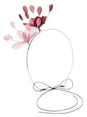 Valentino Garavani Woman Feather Headpiece Burgundy In Pink