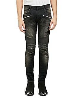 7074d992532 QUICK VIEW. Balmain. Distressed Moto Skinny Jeans