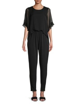 Kobi Halperin Suits Doria Lace-Trim Jumpsuit