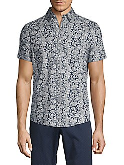 86a7315d4 Product image. QUICK VIEW. Ben Sherman. Printed Short-Sleeve Shirt