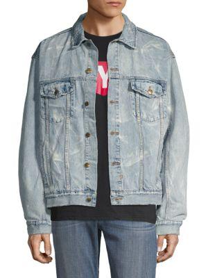 13aa31909d16 Ksubi Distressed Denim Jacket | ModeSens
