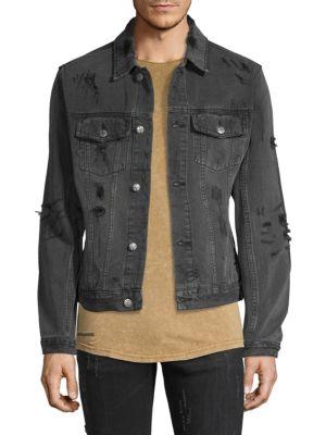 df20fe435534 Ksubi Distressed Denim Jacket In Black | ModeSens