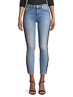 be86b223270e Product image. QUICK VIEW. 7 For All Mankind. Ankle Beaded Skinny Jeans