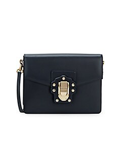 3afcc90b73 Product image. QUICK VIEW. Dolce & Gabbana. Studded Box Leather Shoulder Bag