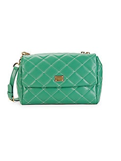 dae9546c6 Product image. QUICK VIEW. Dolce & Gabbana. Quilted Leather Shoulder Bag