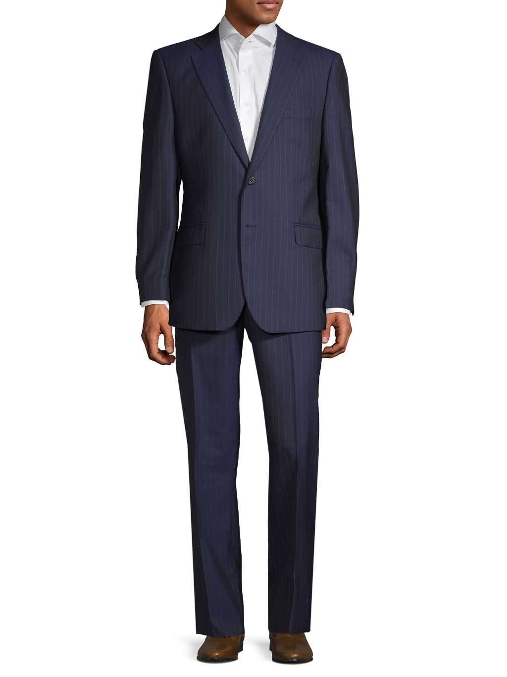 Saks Fifth Avenue Made in Italy Classic-Fit Pinstripe Wool Suit
