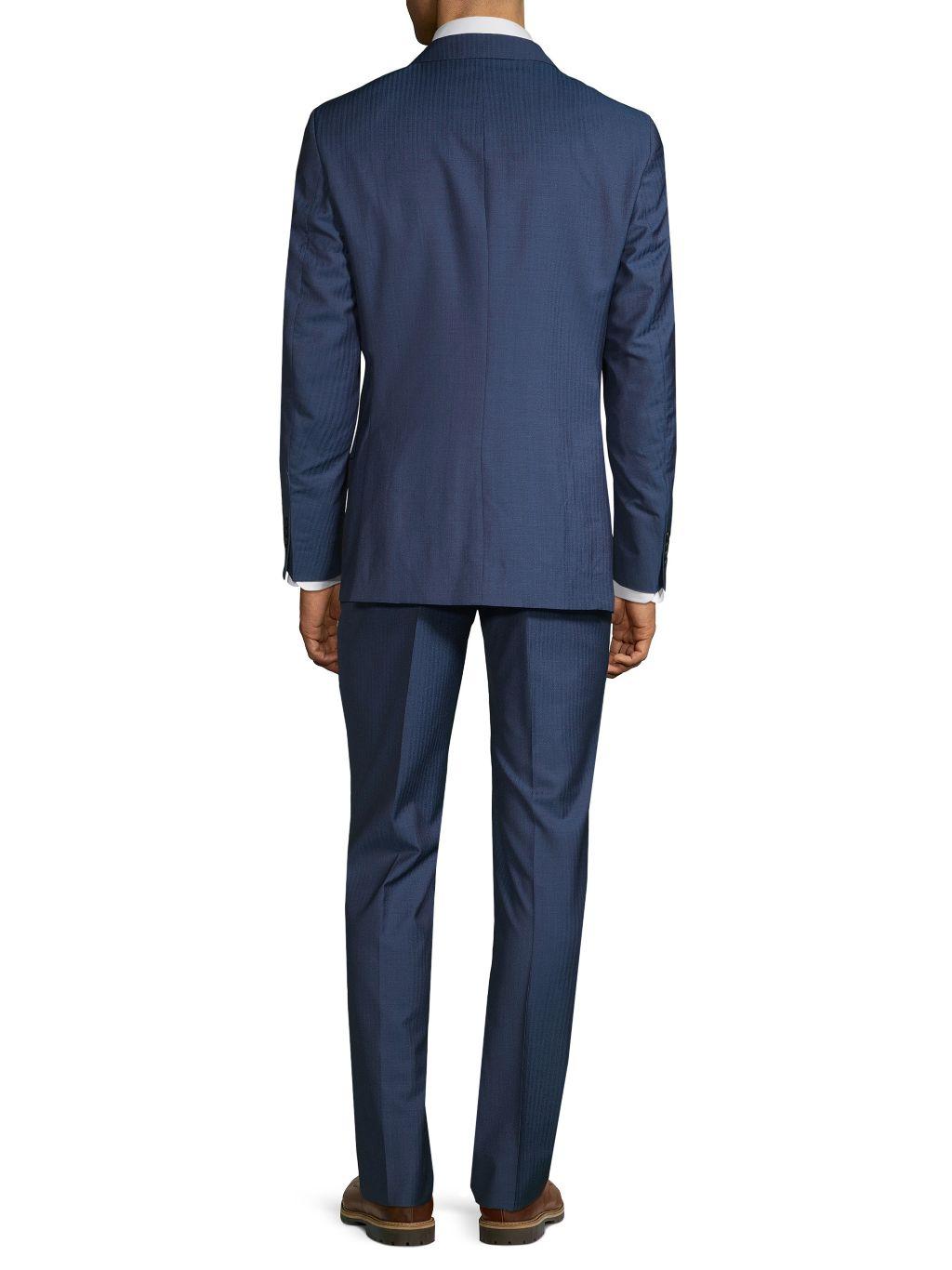 Saks Fifth Avenue Made in Italy Slim-Fit Wool & Silk Suit