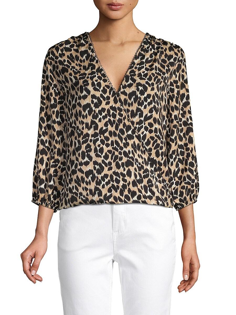 Women's Leopard-Print Twist-Front Top