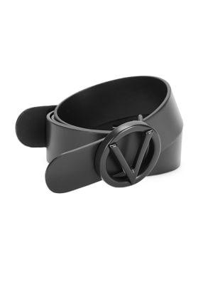 Valentino By Mario Valentino Belts LOGO LEATHER BELT