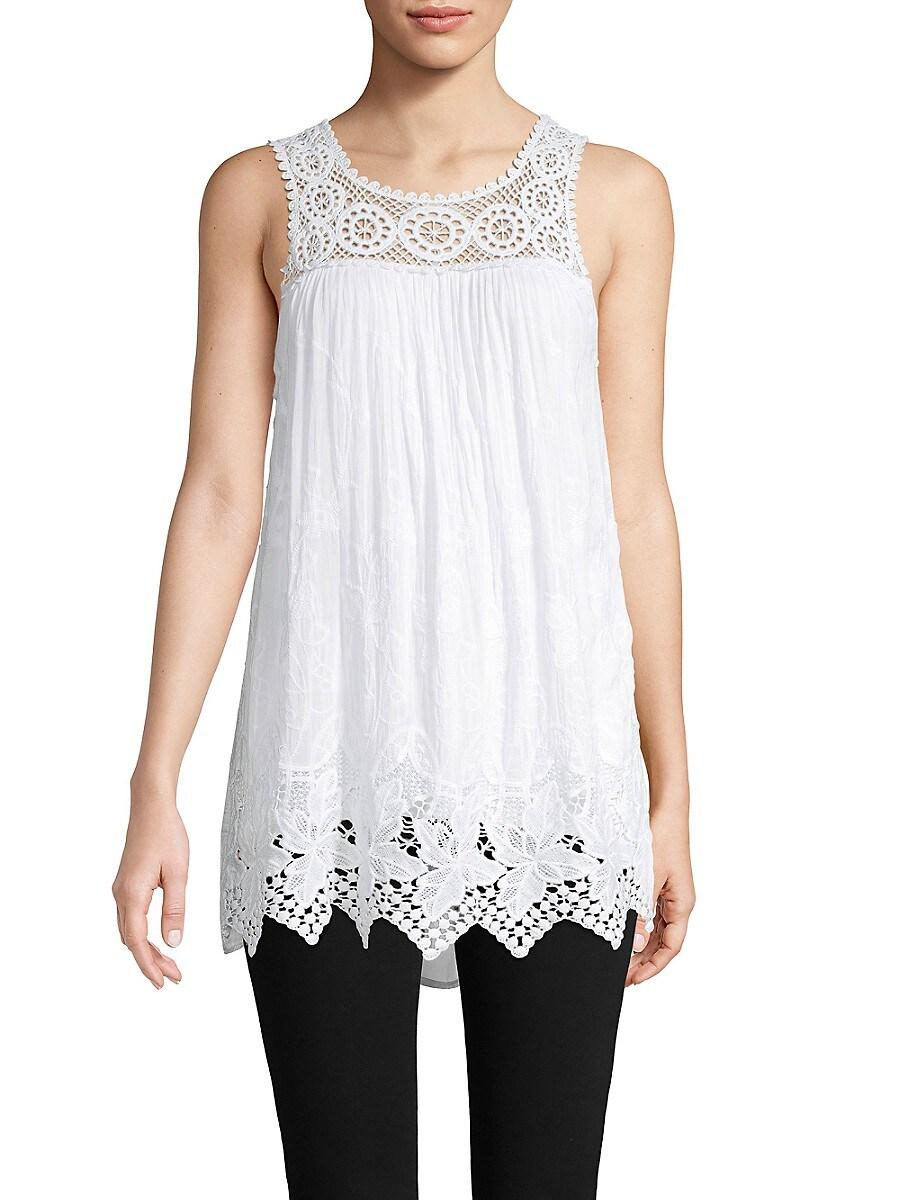 Women's Layered Lace Silk Top