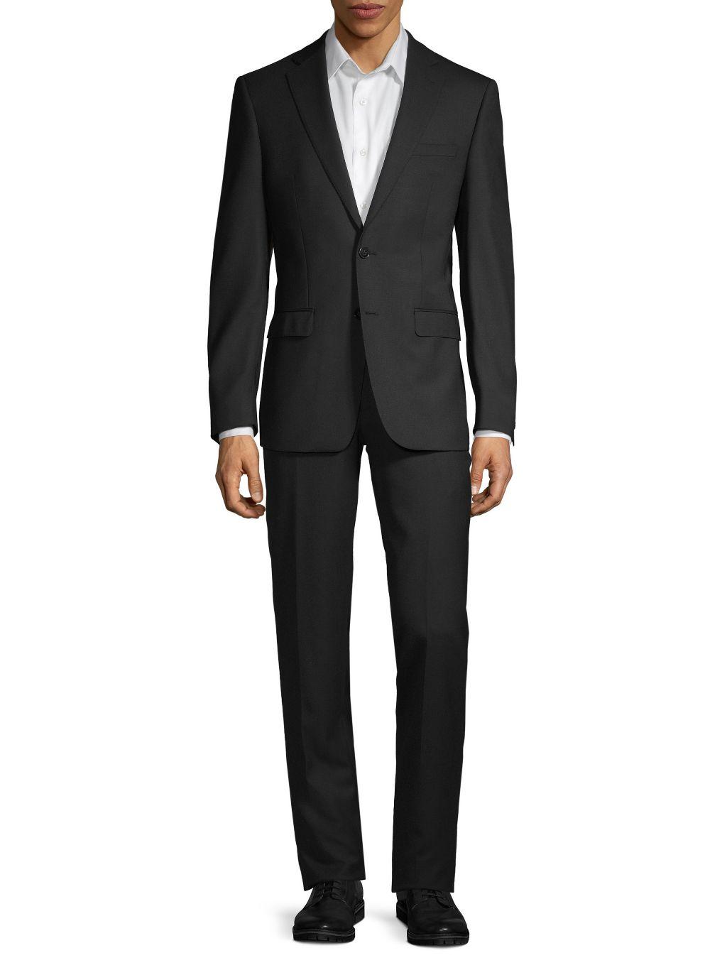 Calvin Klein Extra Slim-Fit Twill Wool Suit