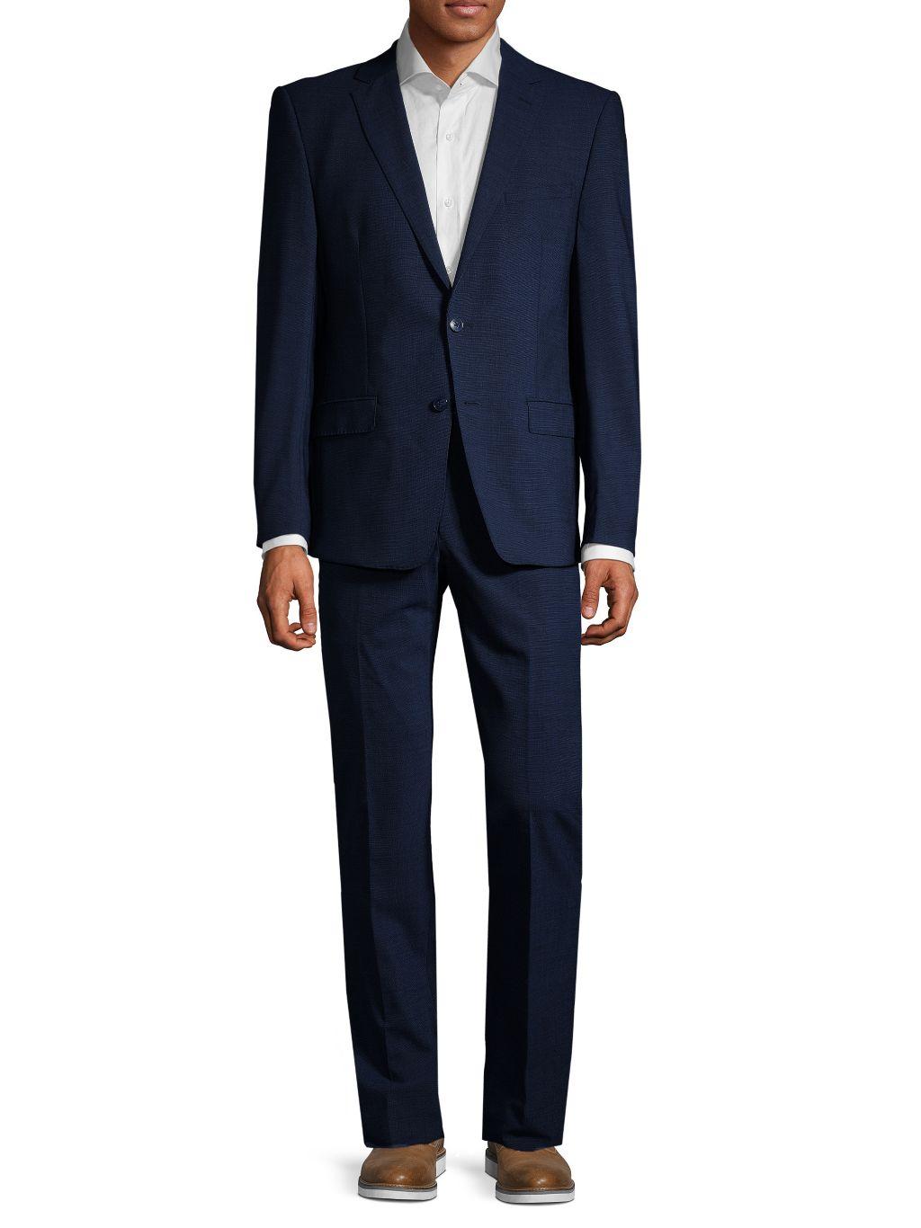 Calvin Klein Extra Slim-Fit Textured Wool Blend Suit