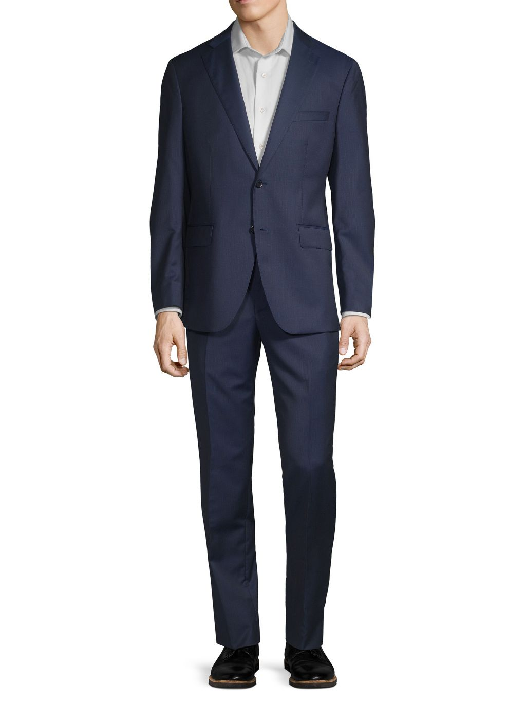 Saks Fifth Avenue Made in Italy Modern-Fit Wool & Silk Suit