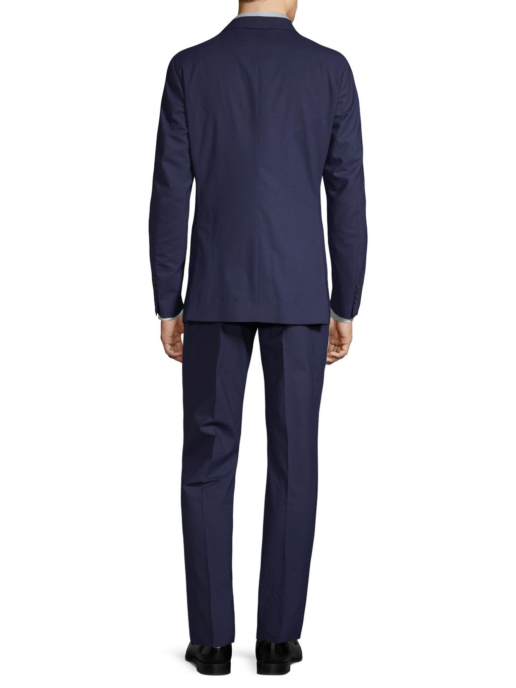 Saks Fifth Avenue Made in Italy Modern-Fit Tonal Striped Wool Suit