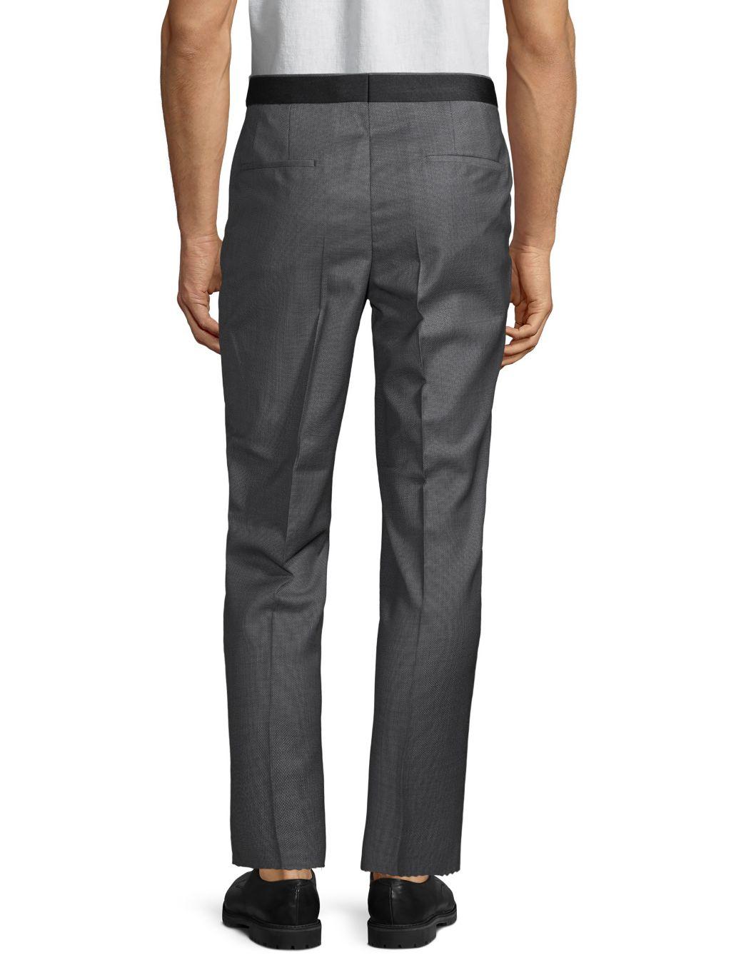 Boss Hugo Boss Wool-Blend Pleated Pants