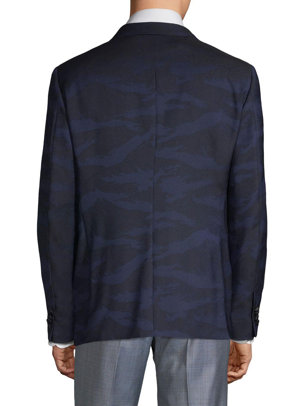John Varvatos Star U.S.A. Modern-Fit Patterned Wool Dinner Jacket
