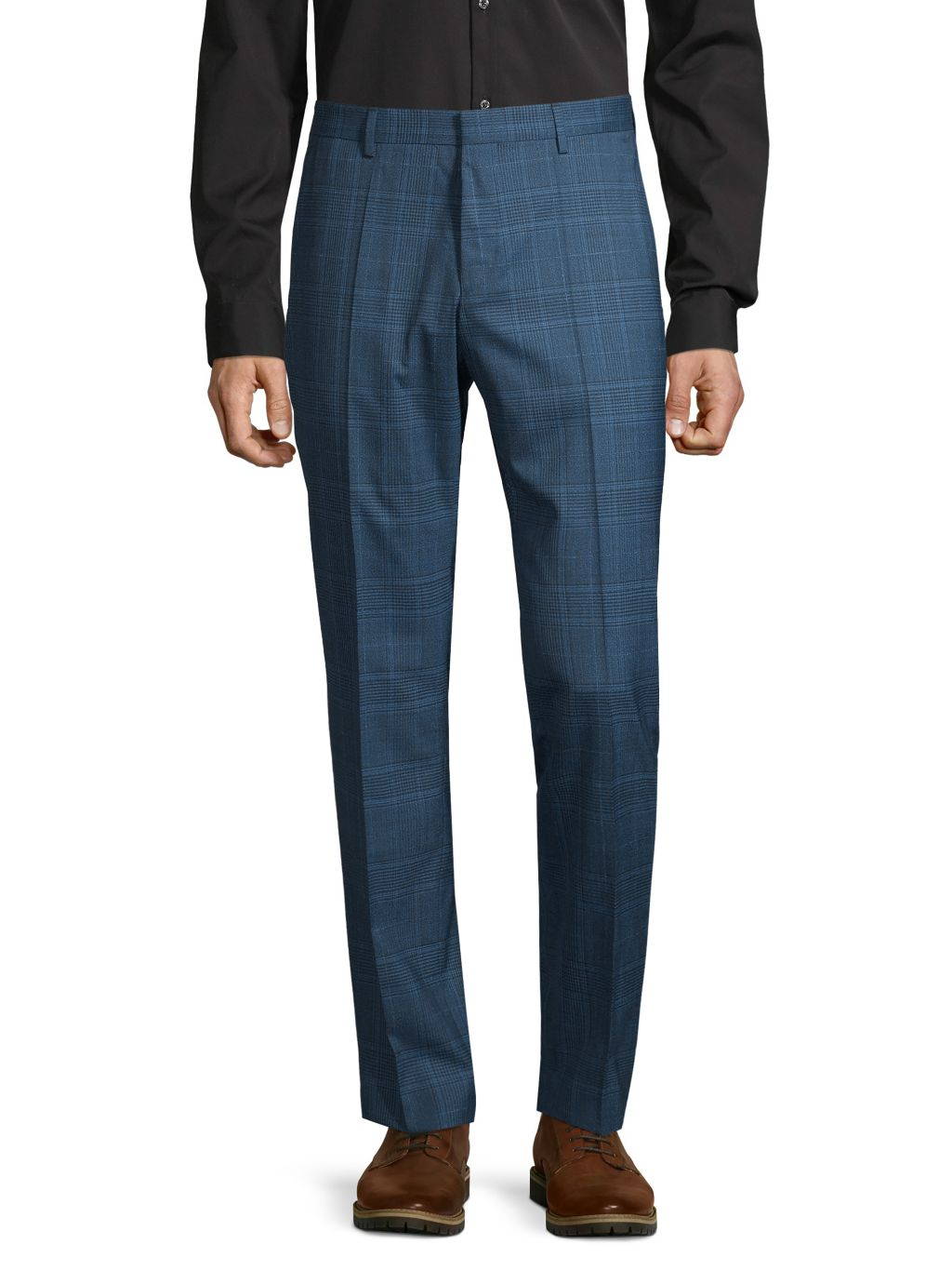 Boss Hugo Boss Plaid-Print Wool Dress Pants