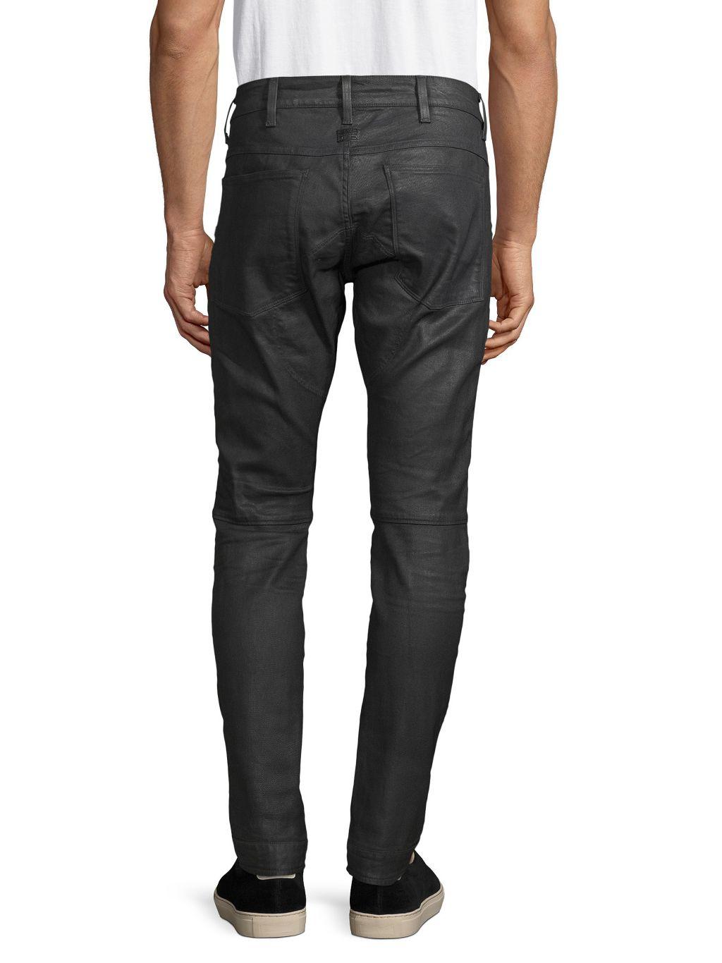G-Star RAW Coated Skinny Moto Jeans