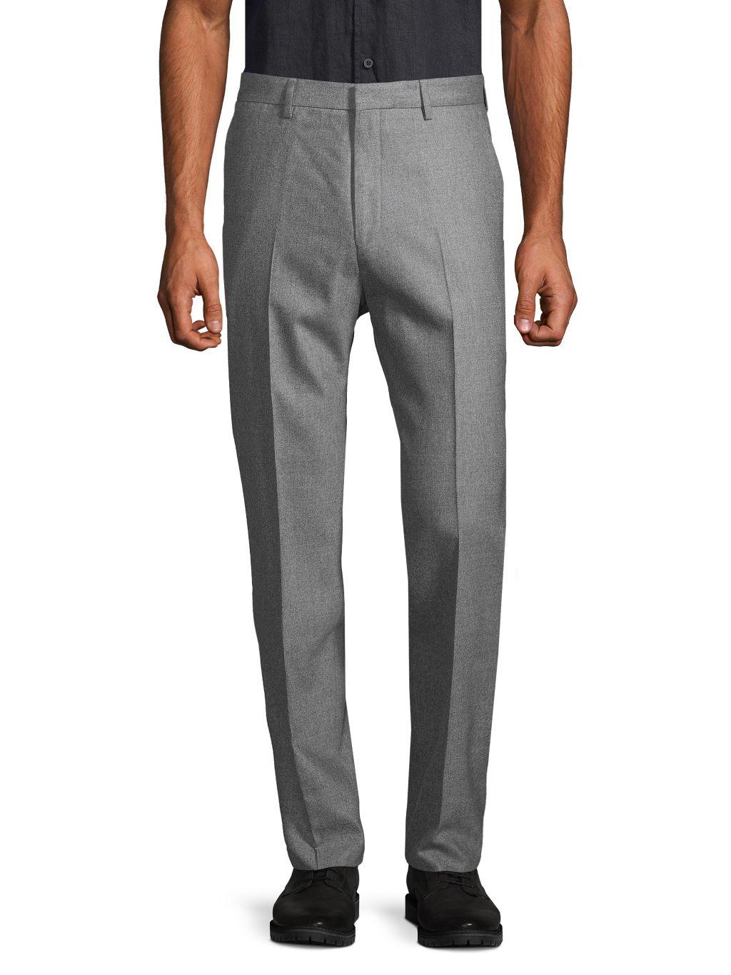 Boss Hugo Boss Flat-Front Wool-Blend Pants