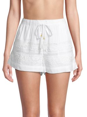 L*space Shorts Lace-Trimmed Drawstring Shorts