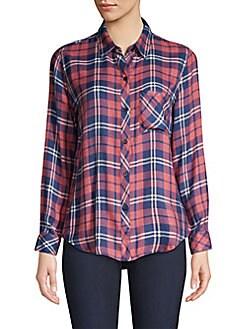 4fa8f5f78 Hunter Plaid Button-Down Shirt RUST INDIGO. QUICK VIEW. Product image.  QUICK VIEW. Rails