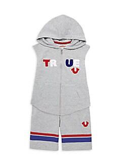 2c79a3c29 Product image. QUICK VIEW. True Religion. Little Boy's 2-Piece Cotton Blend  Hoodie ...