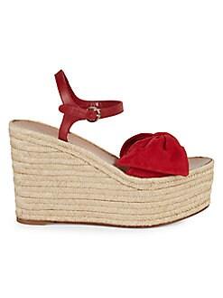 cdbf38da0 Product image. QUICK VIEW. Valentino Garavani. Suede Bow Espadrille Wedge  Sandals