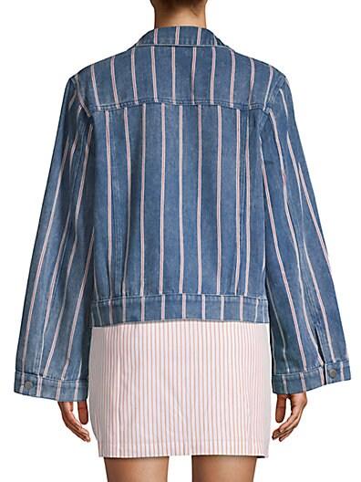 d8624026 ... English Factory Striped Bell Sleeve Denim Jacket
