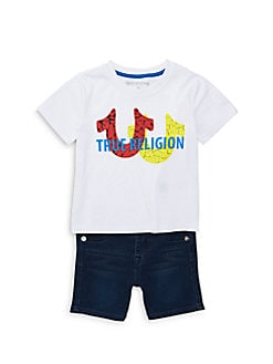 55de8067d Product image. QUICK VIEW. True Religion. Little Boy s 2-Piece Horseshoe Tee    Denim Short Set