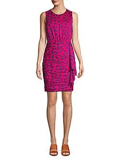 566d846a39 QUICK VIEW. Diane von Furstenberg. Micah Floral Ruched Bodycon Dress