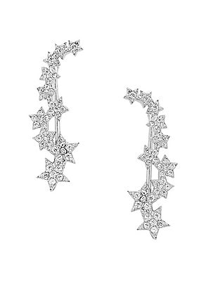 Crystal Star Ear Crawlers by Sterling Forever