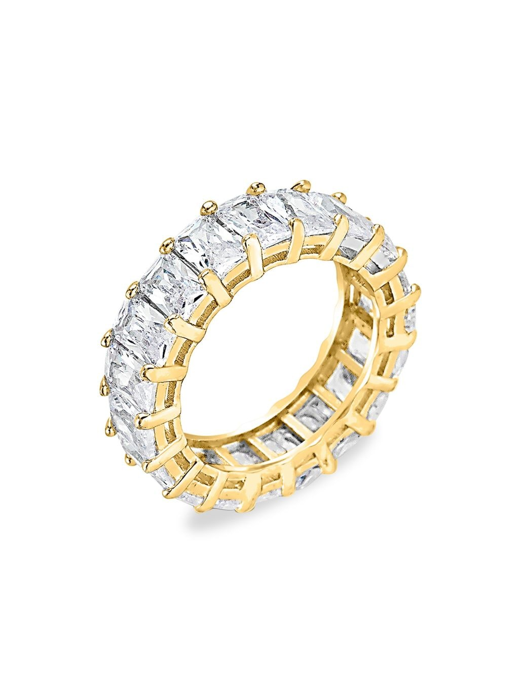 Sterling Forever Crystal Eternity Band Ring