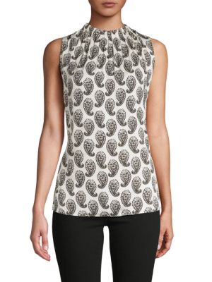 Kobi Halperin Tops Lula Sleeveless Paisley Silk-Blend Blouse