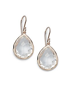 8dbd2a1df Fine & Fashion Jewelry. Ippolita - Rosé Rock Candy Clear Quartz Teardrop  Earrings