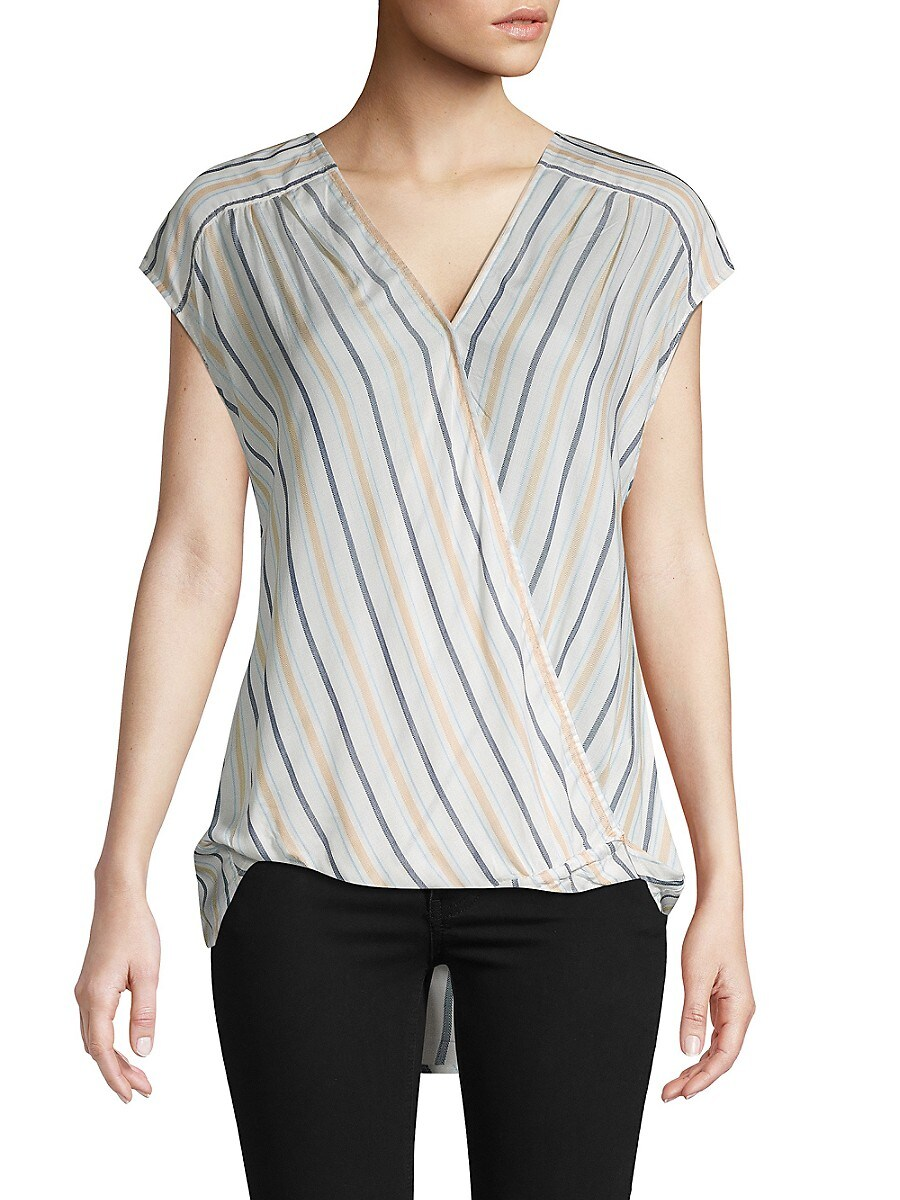 Women's Striped High-Low Top