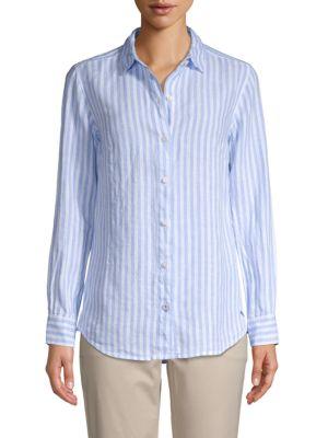 Tommy Bahama T-shirts Striped Linen Shirt