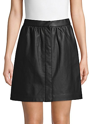 Faux Leather Mini Skirt by French Connection