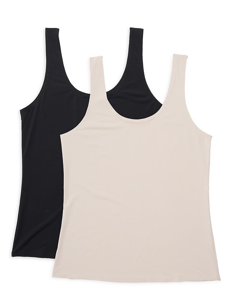 Women's 2-Pack Shapewear Scoopneck Tank Top Set
