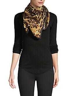 993842bfe Product image. QUICK VIEW. Roberto Cavalli. Leopard-Print Wraparound Silk  Scarf