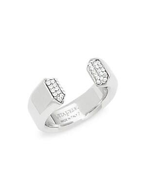 Silvertone & Swarovski Crystal Ring by Vita Fede