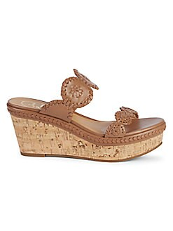 f126cfcc38 QUICK VIEW. Jack Rogers. Leigh Leather Wedge Sandals