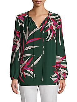 10c0800b0d5ab QUICK VIEW. Diane von Furstenberg. Printed Long-Sleeve Silk Blouse