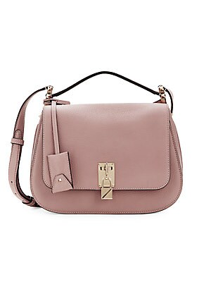 Pebbled Leather Saddle Bag by Valentino Garavani