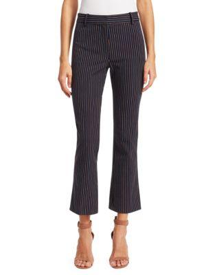 Derek Lam Pants Striped Crop Flare Pants
