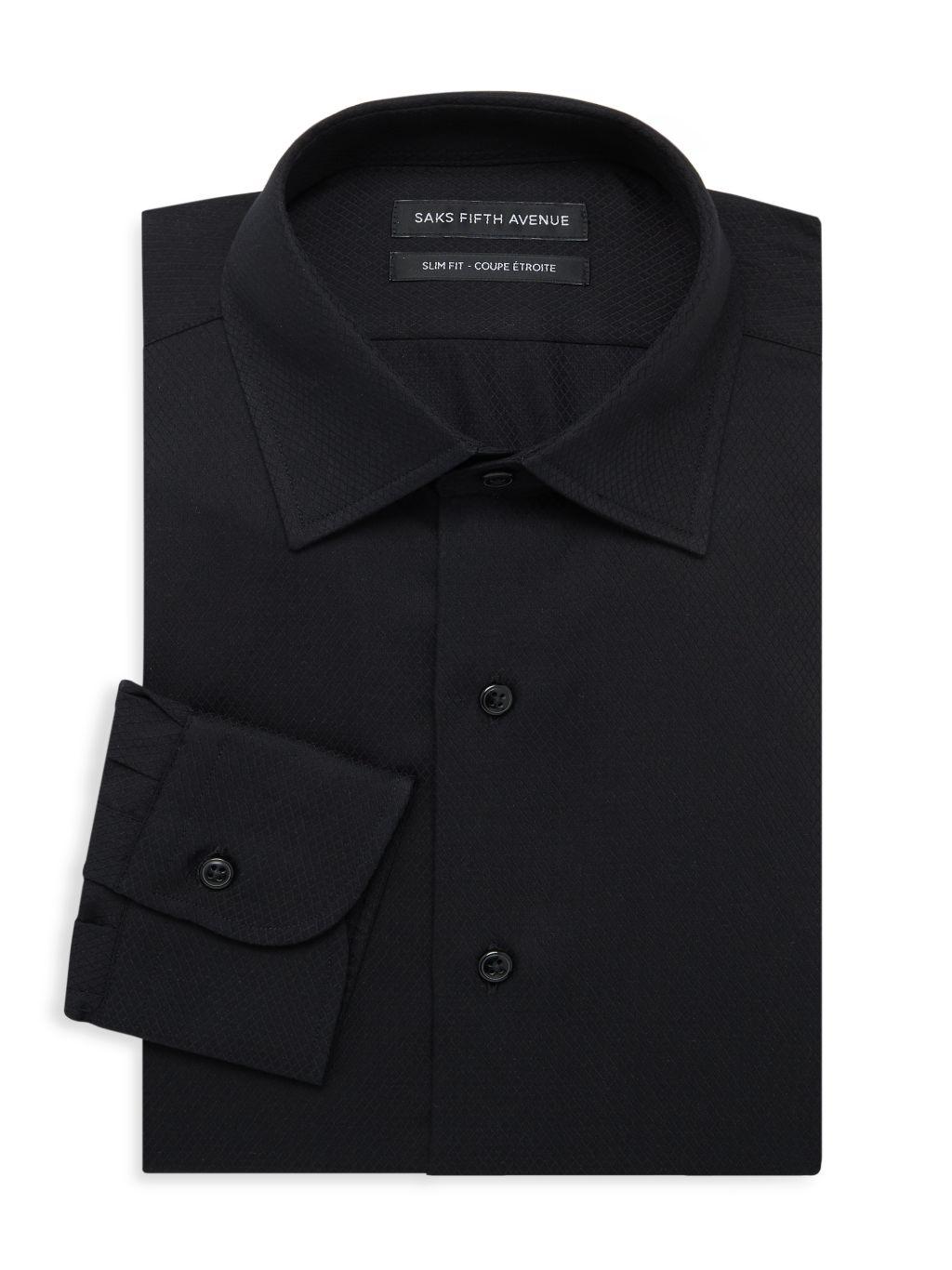 Saks Fifth Avenue Slim-Fit Textured Shirt