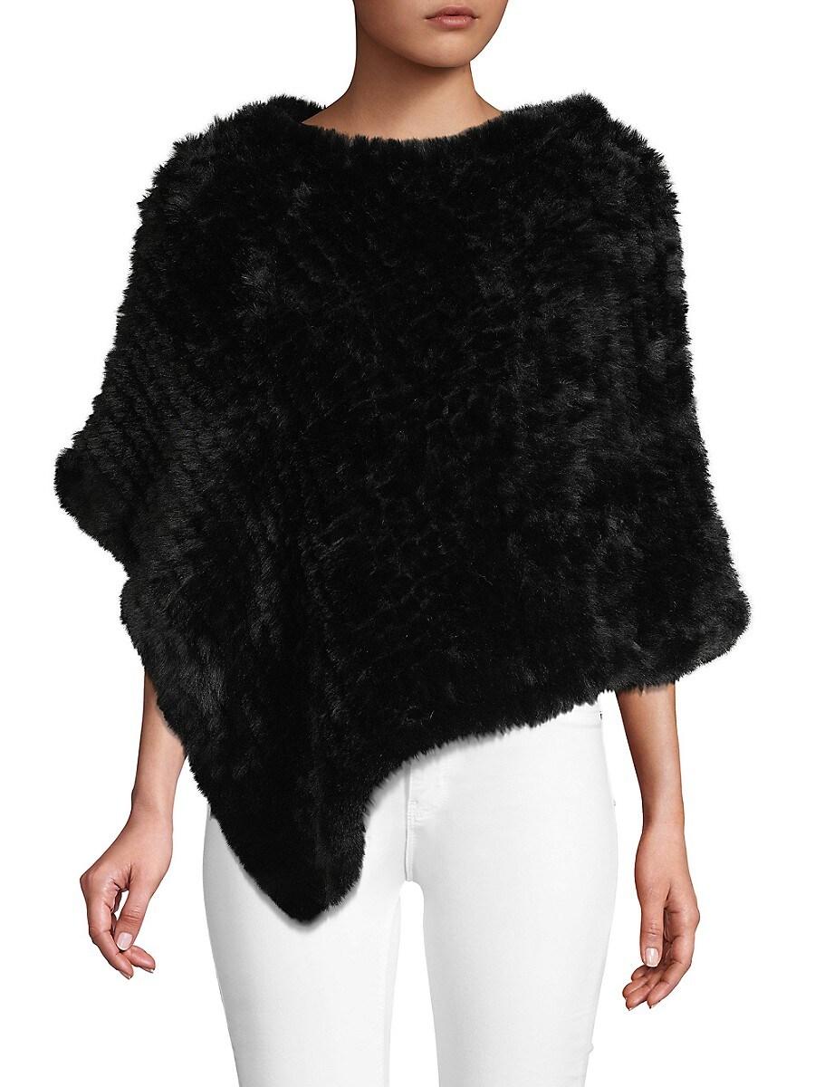 Women's Faux Fur Poncho