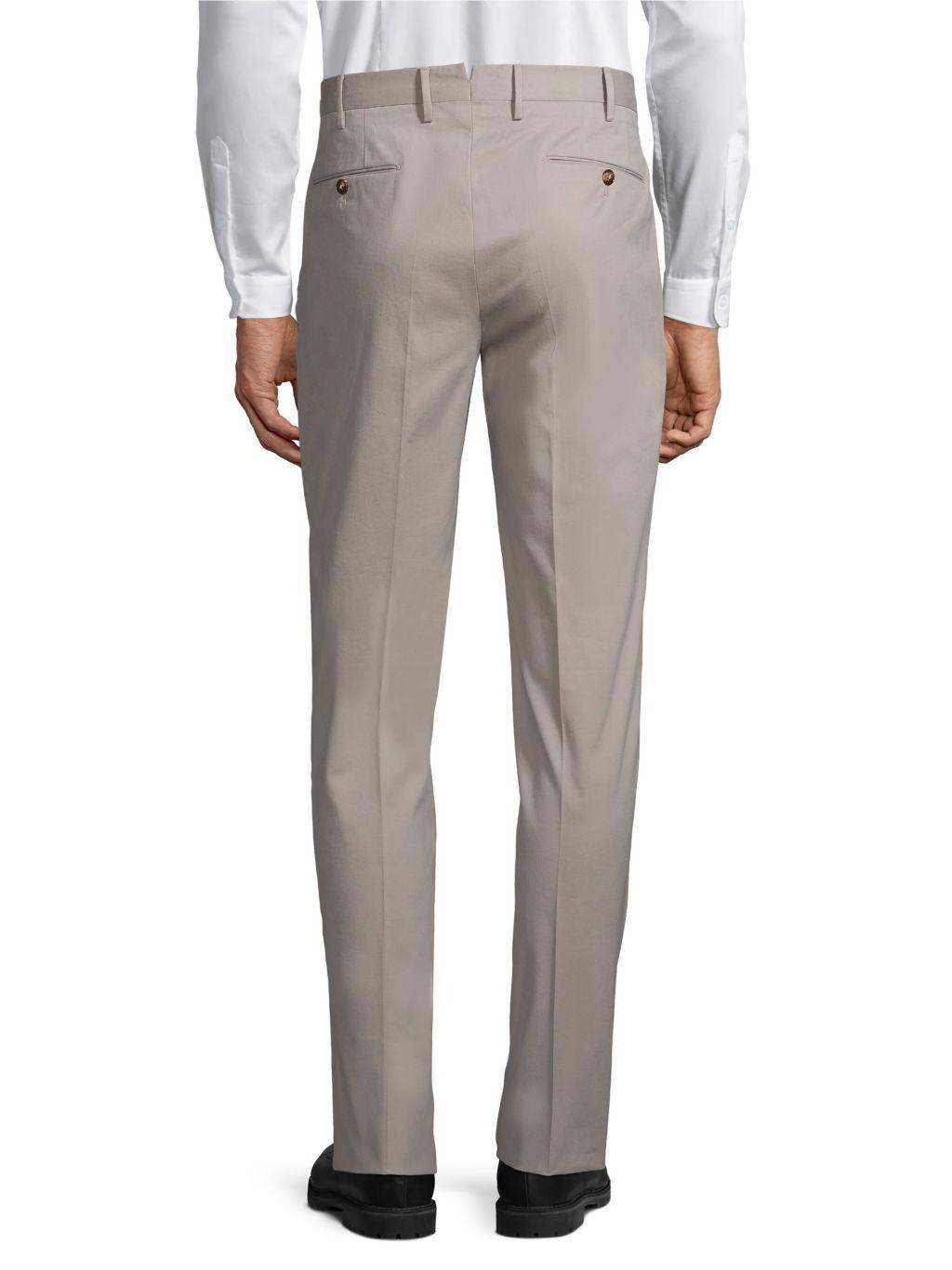 PT01 Flat-Front Cotton-Blend Trousers