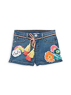 93aef40afeab ... Little Girl's Embellished Denim Shorts DENIM BLUE. QUICK VIEW. Product  image