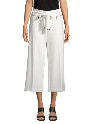 Calvin Klein Collection Wide-leg Cropped Pants In Soft White