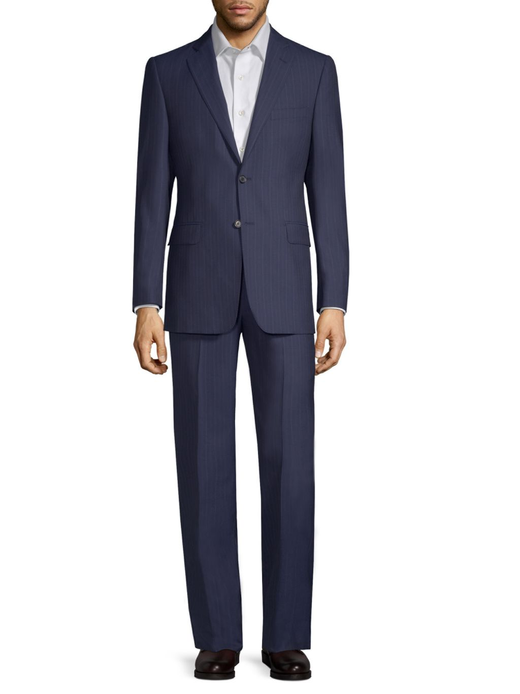 Saks Fifth Avenue Made in Italy Classic-Fit Striped Wool Suit